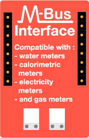 MBUS interface compatible with water meter, heat meter, gas meter, eletricity meter - Ewattch